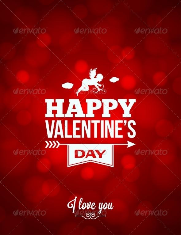 Valentines Day Red Light Background