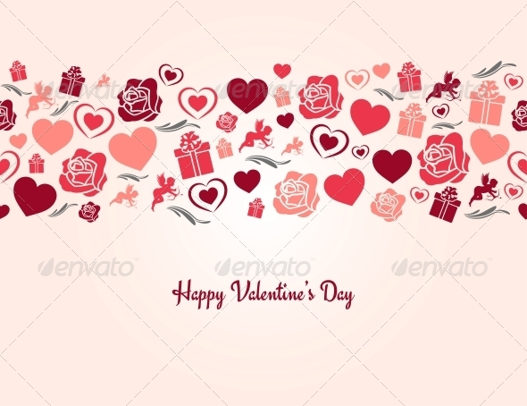 Valentines Day Heart Seamless Background