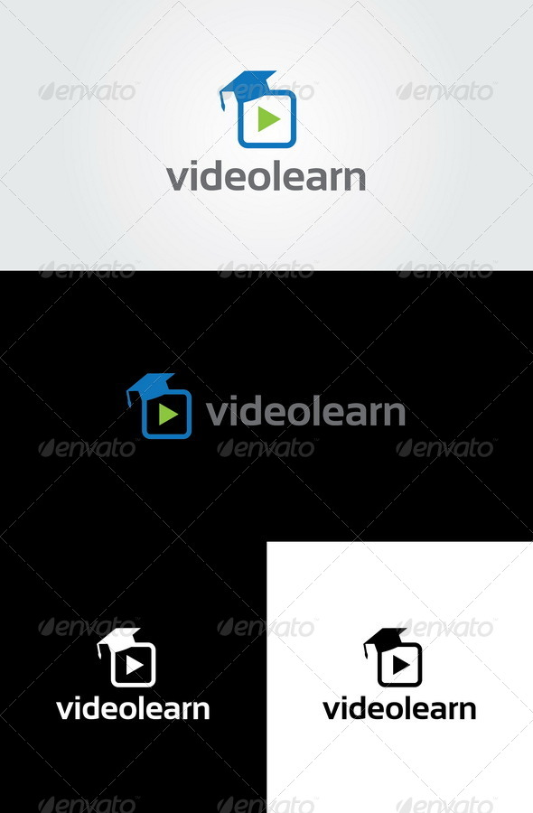 Video Learn Logo Template