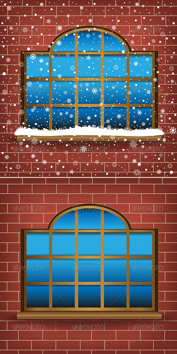 Large Window and Snow