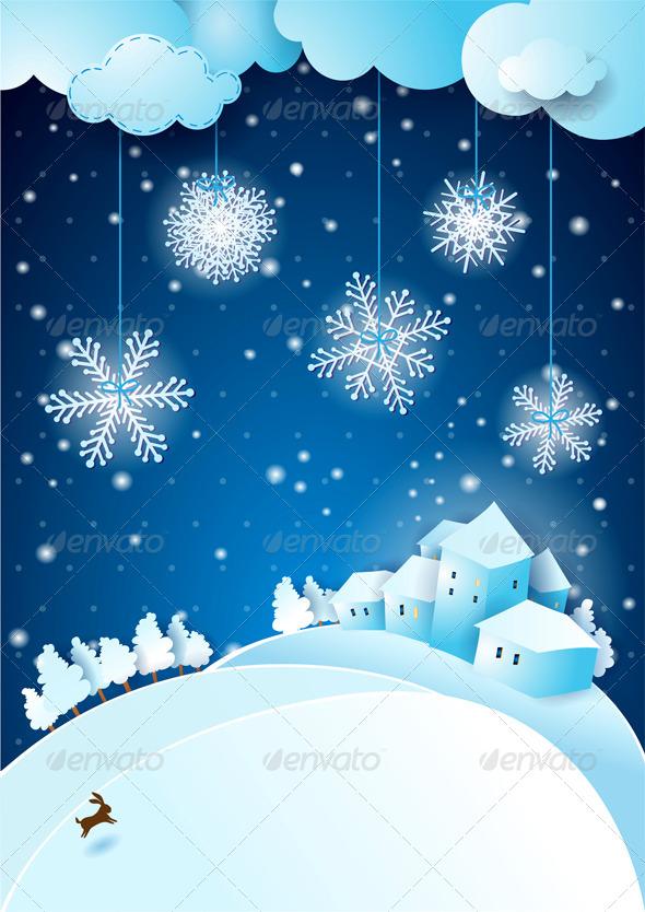 Christmas Eve with Snowfall