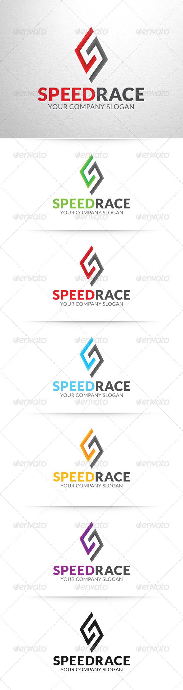 Speed Race - Letter S Logo