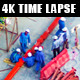 Time lapse of People Working at Construction site - VideoHive Item for Sale