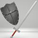 Medieval Sword & Shield - 3DOcean Item for Sale
