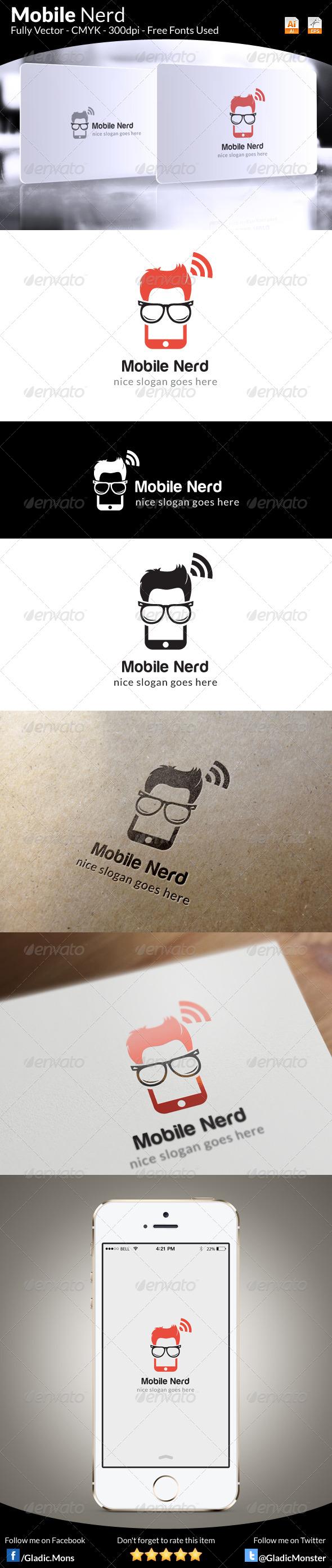 Mobile Nerd Logo Template