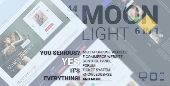 MoonLight Multipurpose/eCommerce PSD Template
