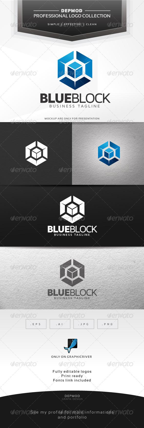 Blue Block Logo