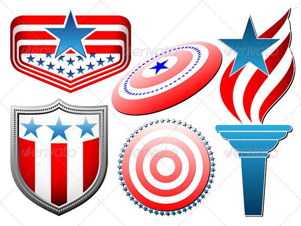 American Symbolics Signs Set