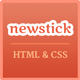 Newstick Responsive News & Magazine Template - ThemeForest Item for Sale