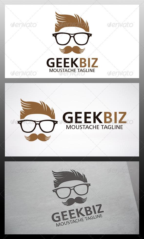 Geek Moustache Logo