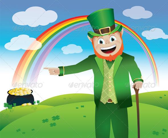 Vector Saint Patrick's Day Leprechaun