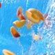 Peach Nectarine Splashing Into Water Pouring Down In Slow Motion 4K - VideoHive Item for Sale