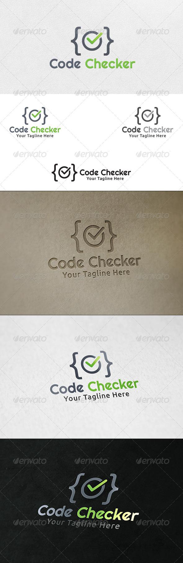 Code Checker - Logo Template