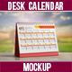 Desk Calendar Mockup Set - GraphicRiver Item for Sale