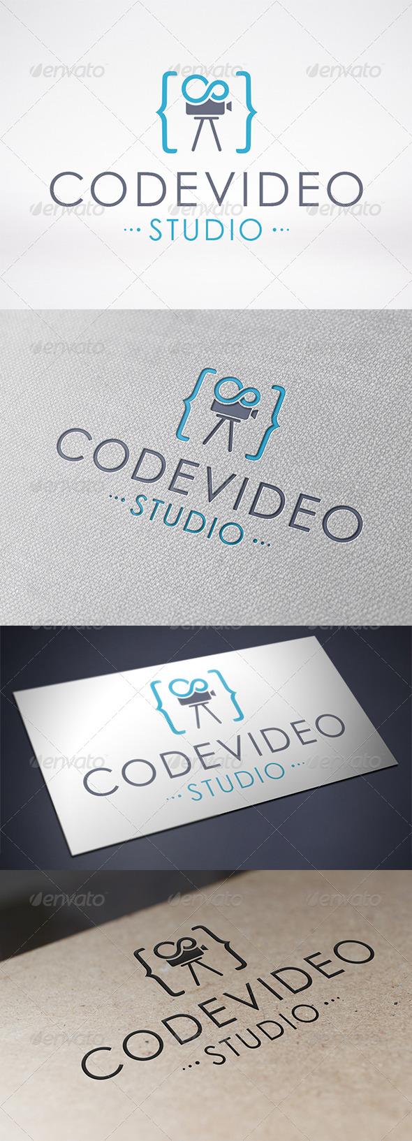 Code Video Logo Template