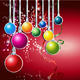 Happy New Year Card with Christmas Ball - GraphicRiver Item for Sale