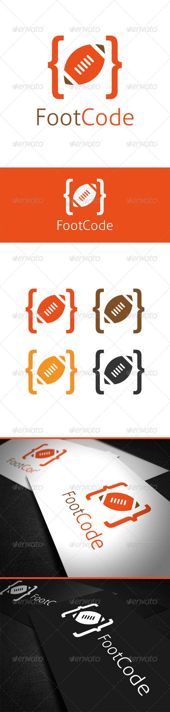 Foot Code Logo Template