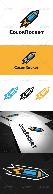 Color Rocket Logo Template