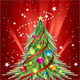 Happy New Year Card with Pine and Baubles  - GraphicRiver Item for Sale