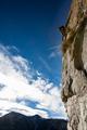 Mountaineer climbs a steep rockface. Valsesia, south Alps, Italy, Europe. - PhotoDune Item for Sale