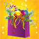 Happy New Year Card with Christmas Gift Bag - GraphicRiver Item for Sale