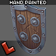 Low poly hand painted shield [Militia 05] - 3DOcean Item for Sale