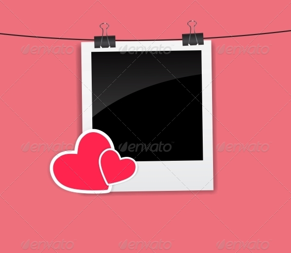 Valentine`s Day Photo Card with Heart