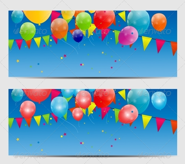 Color Glossy Balloons Background, Vector