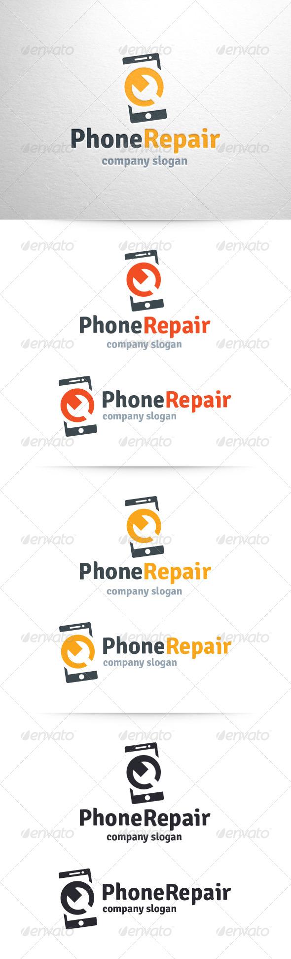 Phone Repair Logo Template