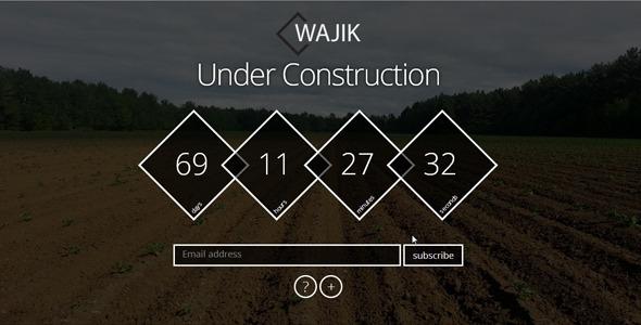 WAJIK Responsive Coming Soon Page