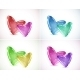 Set of Backgrounds with Heart Bubbles - GraphicRiver Item for Sale