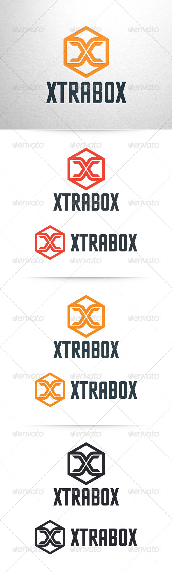 Xtrabox - Letter X Logo Template