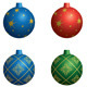 Colorful Vector Decorative Balls for Christmas - GraphicRiver Item for Sale