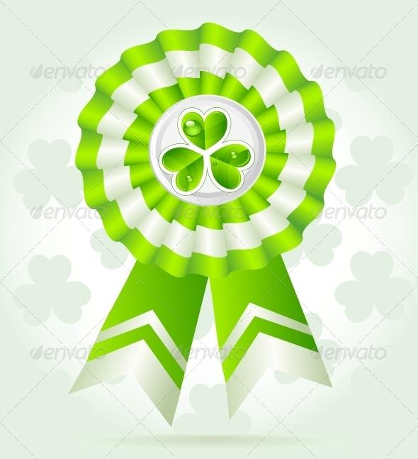 Clover Award on St. Patrick`s Day