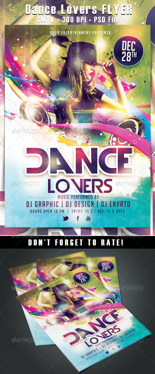 Lovers Flyer Templates from GraphicRiver