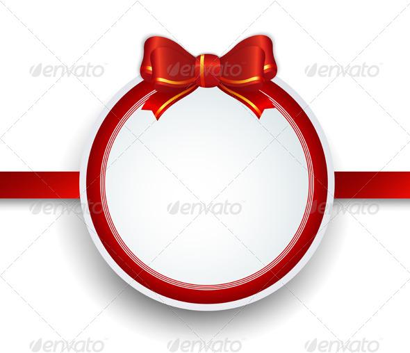 Christmas Frame with Ribbon