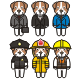 Puppies with Suit and Uniforms - GraphicRiver Item for Sale