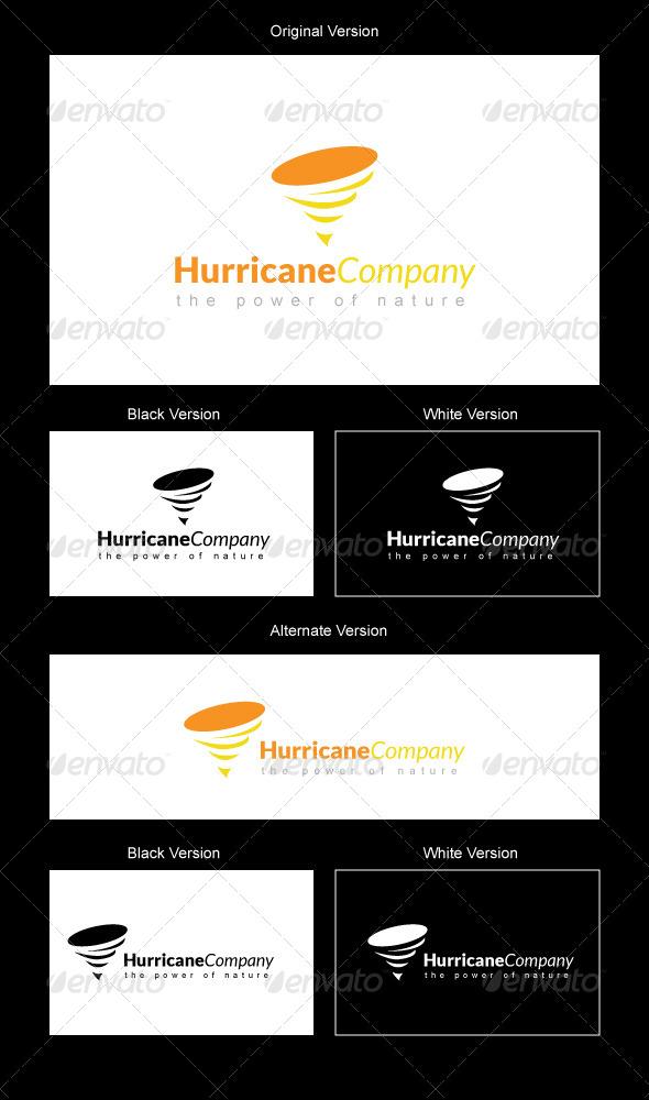 Hurricane Company Logo Design