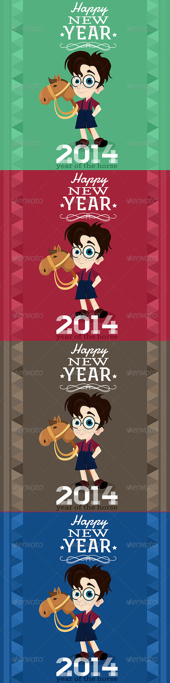 2014 Greeting Card, Year of the Horse