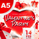 A5 Valentine's Party Flyer / Poster 5 in 1 - GraphicRiver Item for Sale