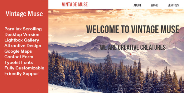 Vintage Muse Multi-purpose Template