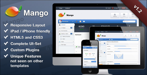 Mango - Zręczny i responsywny szablon administratora