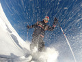 Downhill alpine skiing at high speed on powder snow. - PhotoDune Item for Sale