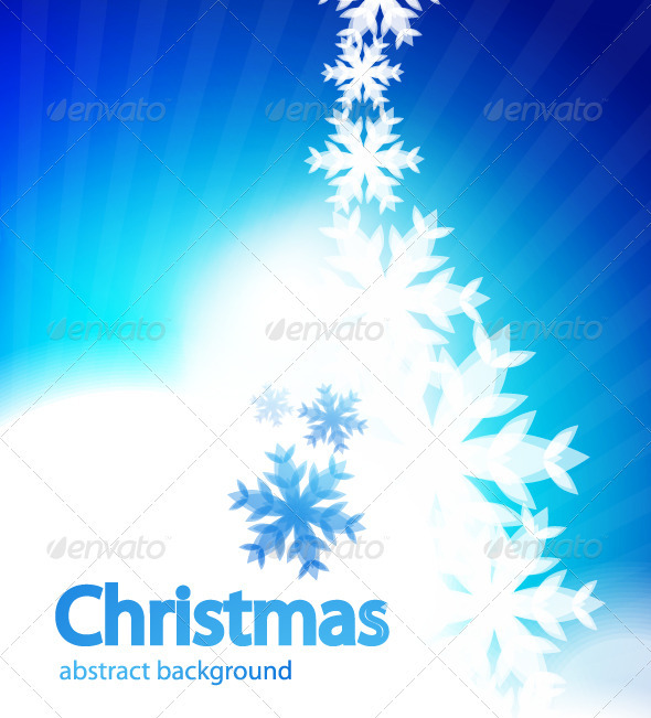 Shiny Christmas vector background