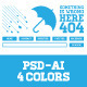 Clean Fresh Clever 404 Error Rain Page in 4 Colors - GraphicRiver Item for Sale
