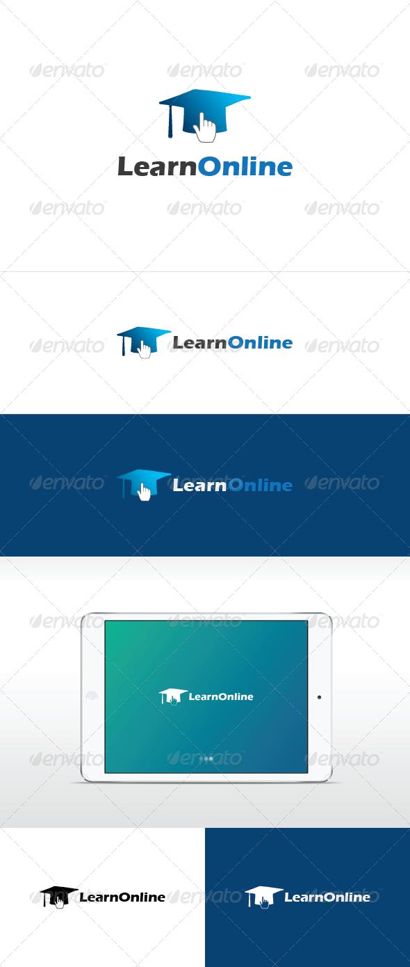 Learn online logo template
