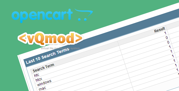 Save Search Items In Opencart