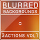 12 Blurred Backgrounds  / 3 Actions / Vol 1 - GraphicRiver Item for Sale