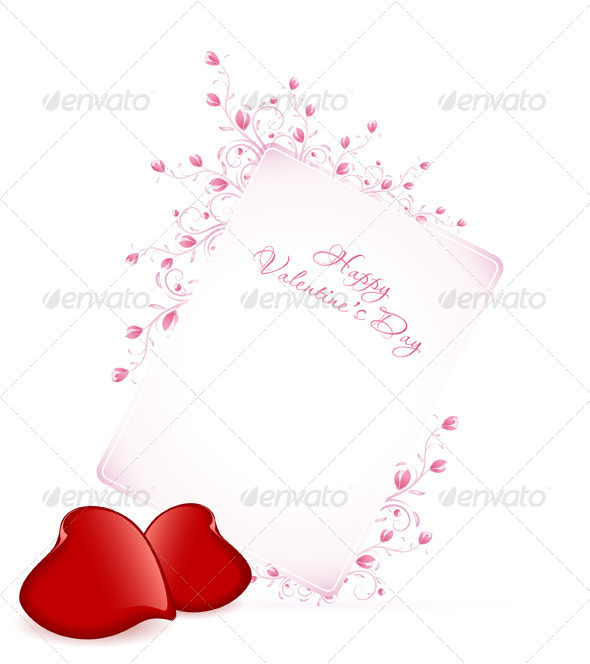Happy Valentine's Day Floral Lettering