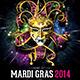 Mardi Gras 2014 Flyer Template - GraphicRiver Item for Sale
